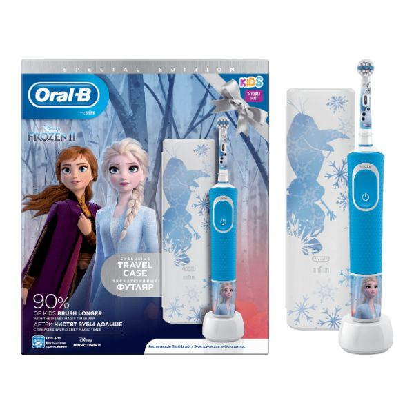 Oral-B Kids 3+ Years Vitality Special Edition Frozen 2 Και Travel Case 1 Τμχ